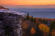 West Virginia, Bear Rocks, Dolly Sods Wilderness, Canaan Valley, Hemlock, Mountain Laurel, Dolly Sods, Allegheny Mountains, Bear Rocks Preserve, Monongahela National Forest, Foggy Morning, Fog, Sun