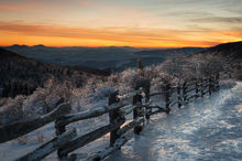 Grayson Highlands State Park, Virginia, Winter, Ice, Snow, Sunset, Beautiful Sunset, Colorful Sunset, Freezing, Mount Rogers National Recreation Area, Jefferson National Forest, Mouth of Wilson