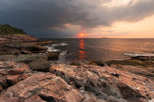 Atlantic, ocean, acadia, national, park, beach, sand, island, bernard chen, timescapes, Great Head Trail, rocky, coastline
