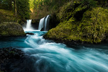 Spirit Falls, Washington, Hood River, Columbia River Gorge, Pacific Northwest, Waterfall, Oregon, Stream, Cascades, Moss, Rocky, Landscapes