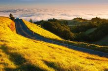 In this Life, Mount Tamalpais, California, pacific, coast, ocean, sunset, golden, biker, sea, grass, peak, marin, landscape, bernard chen, timescapes