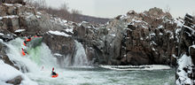 River, Canal, Great Falls Park, Potomac, Virginia, Maryland, Great Falls, River, National Park Service, Mather Gorge, kayaker, water, waterfalls, panoramic, bernard chen