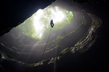 Neversink, Neversink Cave Preserve, Alabama, jackson county, waterfall, pit, fens, moss, southeastern cave conservancy, limestone, sports, extreme sports, climbing, sinkhole