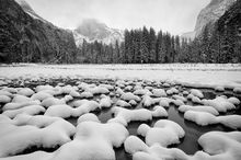 Yosemite, National Park, California, Winter, Landscape, Snow, Mountains, Waterfalls, Rivers, Vista, Iconic, Bridalveil Fall, El Capitan, Half Dome,  Tunnel View, Sequoias, Tuolumne, Mariposa, Glacier,