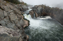 River, Canal, Great Falls Park, Potomac, Virginia, Maryland, Great Falls, River, National Park Service, Mather Gorge, water, waterfalls, panoramic, mist, morning, bernard chen