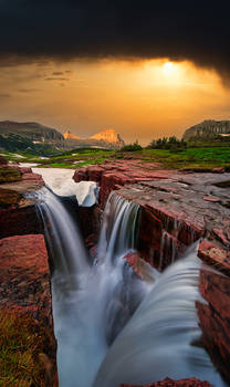 Glacier National Park, Montana, Bernard Chen, Horizontal, Outdoors, Day, Nature, Tranquility, Scenics, Tranquil Scene, Beauty In Nature, Non Urban Scene, Environment, Standing