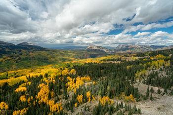 Colorado, Kebler Pass, aspen, autumn, fall, our planet, clouds, bernard chen, timescapes, golden, mountains