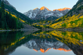 maroon bells, colorado, aspen, autumn, lake color