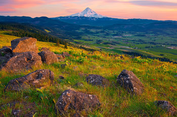 Mount Hood, Oregon, Columbia River Gorge, Hood River, National Scenic Area, Volcanic Rock, Mountain, Landscape, Pacific Northwest