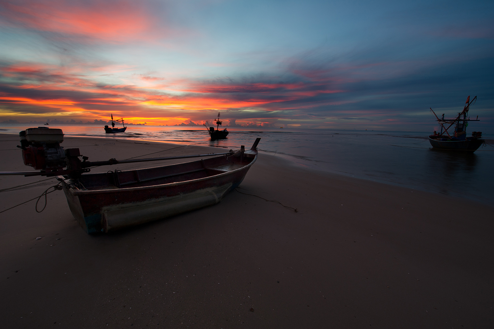 Thailand, Hua Hin, Sunrise, Asia, Indian Ocean, Beach, Bernard Chen, Timescapes, photo
