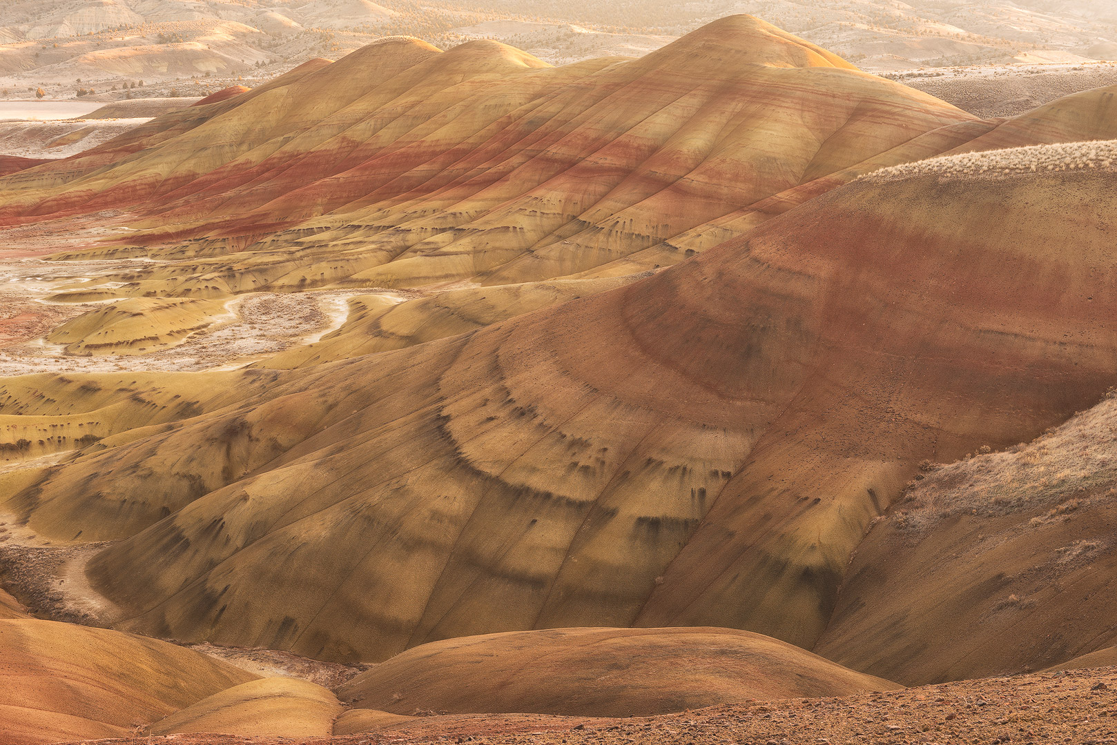 John Day Fossil Beds National Monument, Oregon, Painted Hills, Sand, Colored Sand, photo