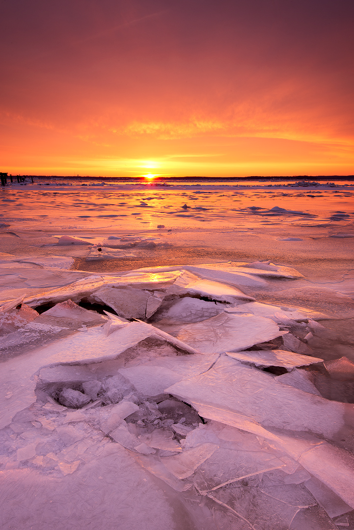 Virginia, Landscape, Winter, Leesylvania, State Park, Prier, Ice, Sunrise, Snow, Frozen, Water, Potomac, River, photo