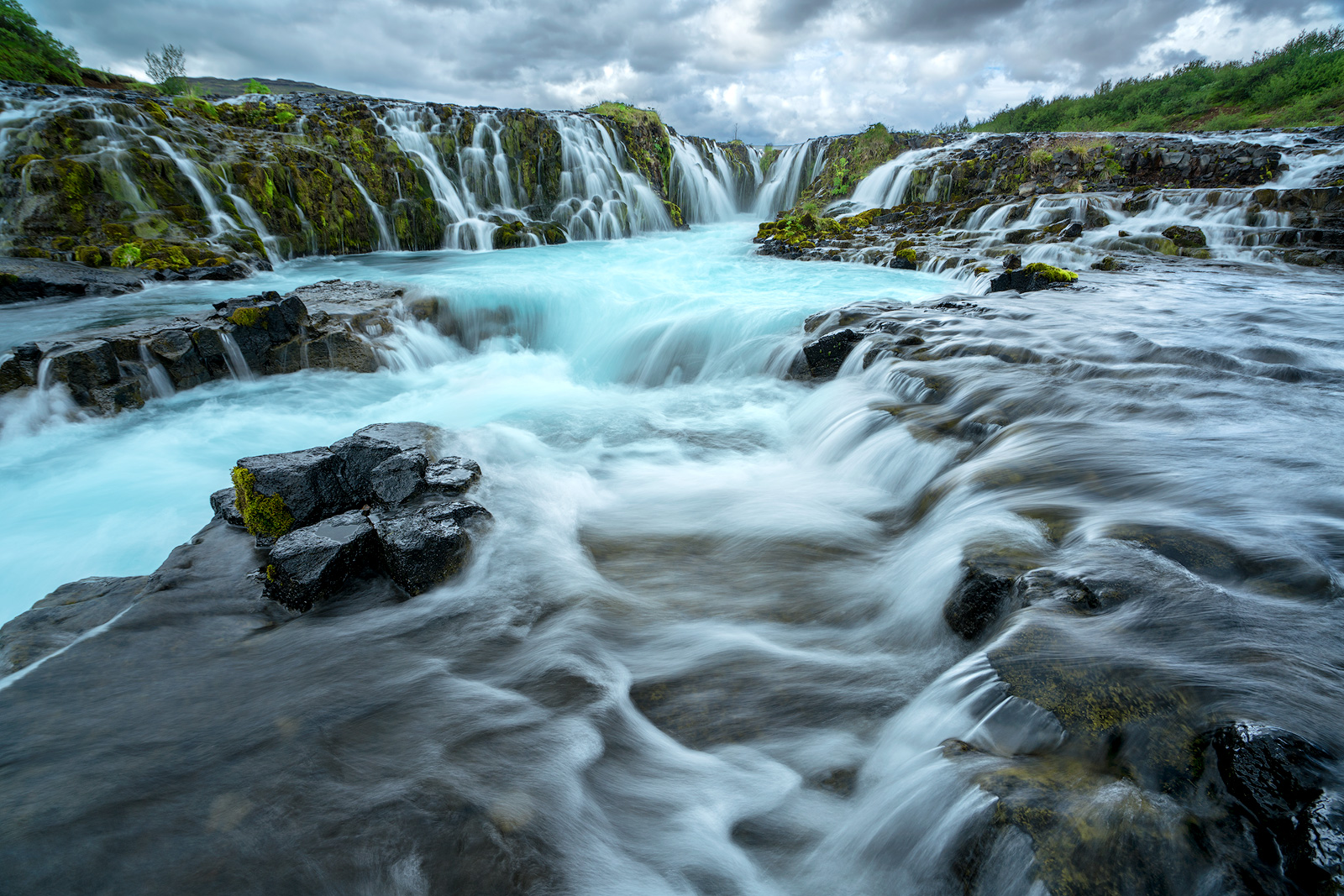 Bruarfoss, Iceland, water falls, aqua, color, wide angle, sony a7rii, Bernard Chen, photo