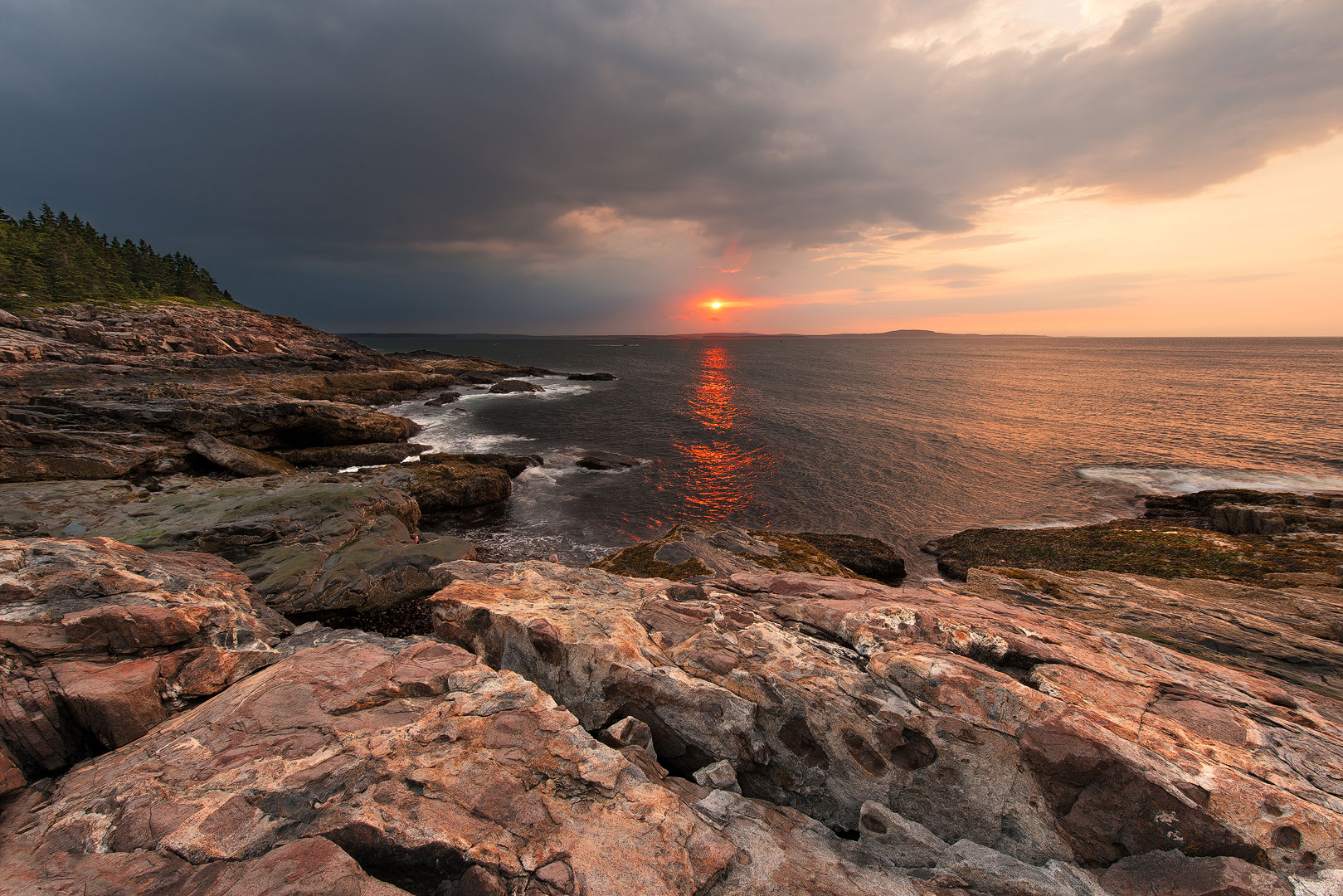 Atlantic, ocean, acadia, national, park, beach, sand, island, bernard chen, timescapes, Great Head Trail, rocky, coastline, photo