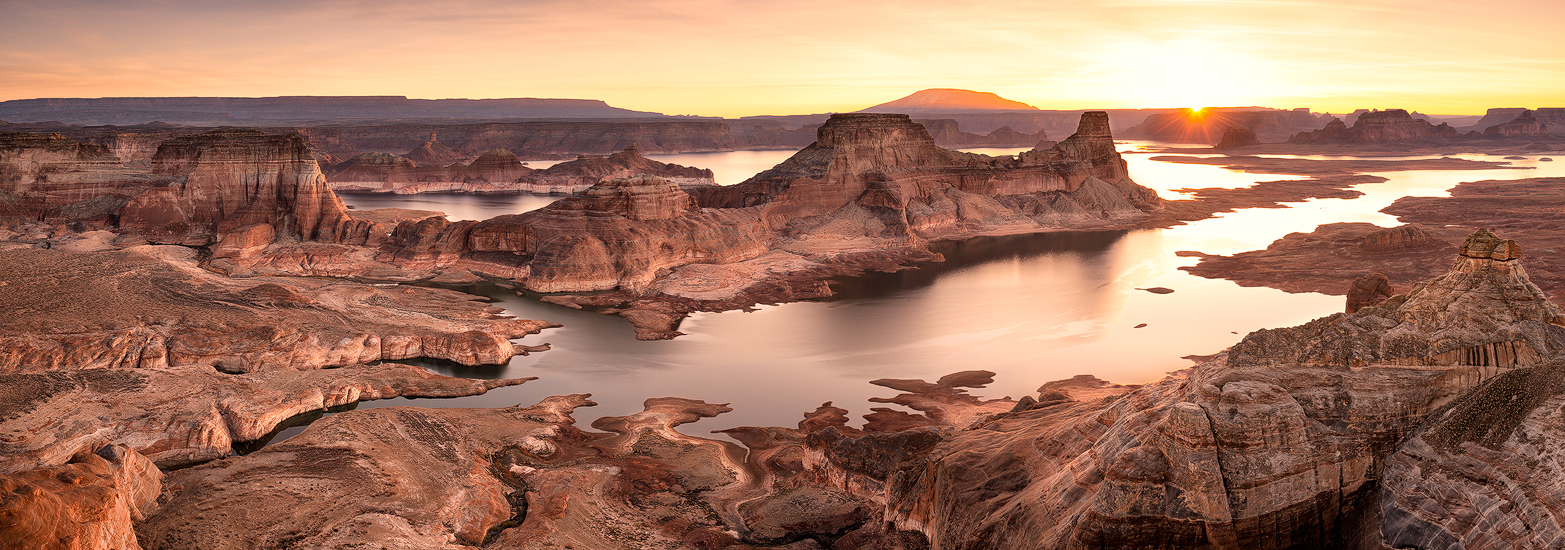 Lost Clouds, Astrom Point, Utah, desert, Lake Powell, mountains, sunrise, panoramic, bernard chen, timescapes, photo