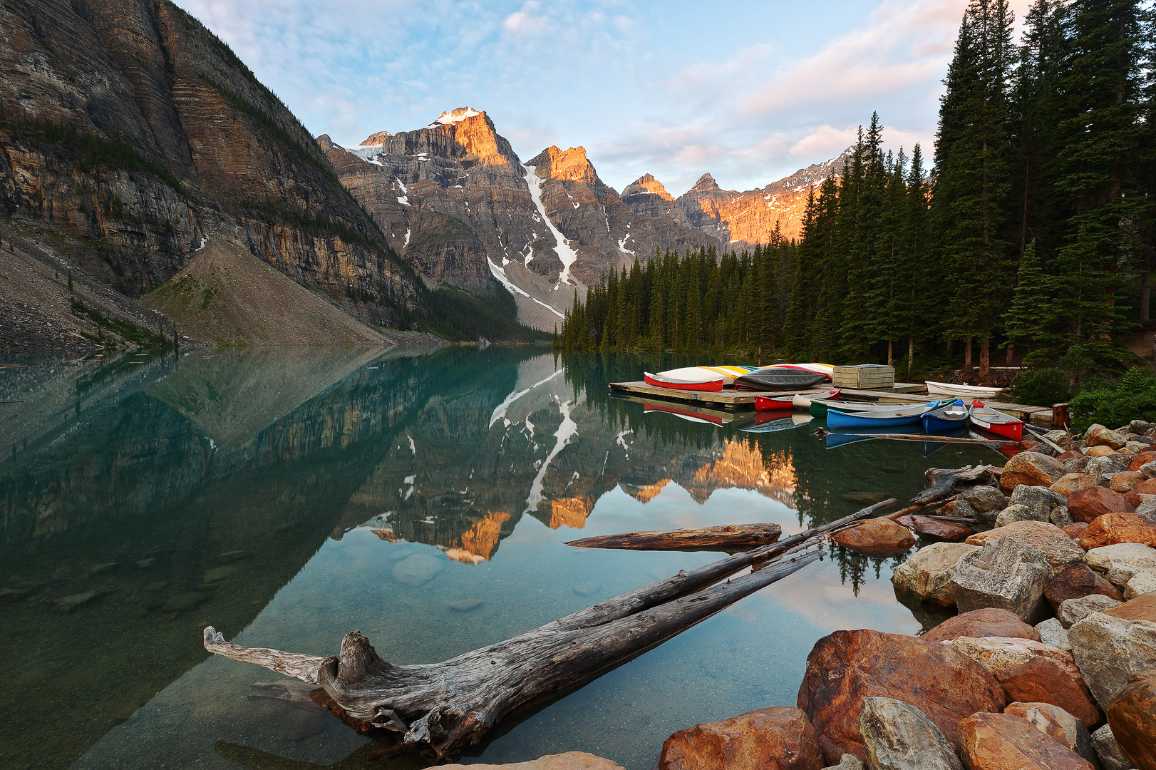Made In Heaven, Moraine Lake, Canada, banff, jasper, national park, rockies, mountain, glacier, snow, peaks, valley, bernard chen, timescapes, photo