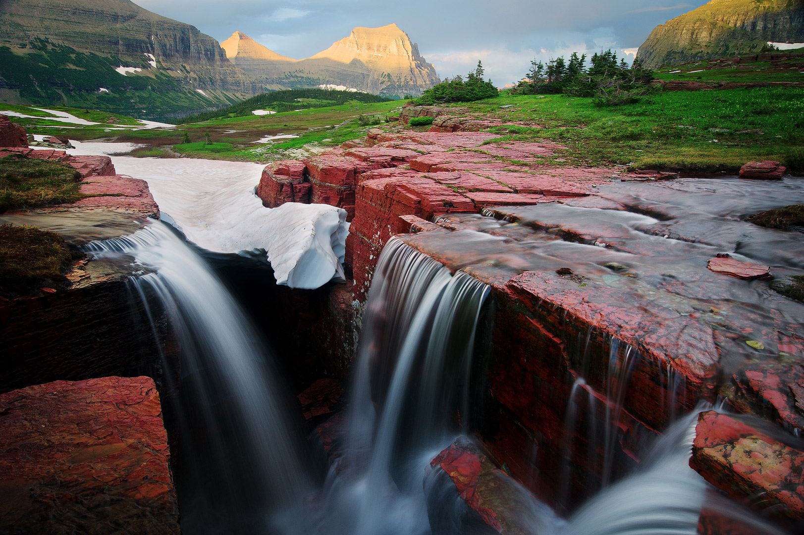The fame triple falls of Glacier can be found around Logan's Pass and when there is plenty of water, this waterfall can be tantalizingly...
