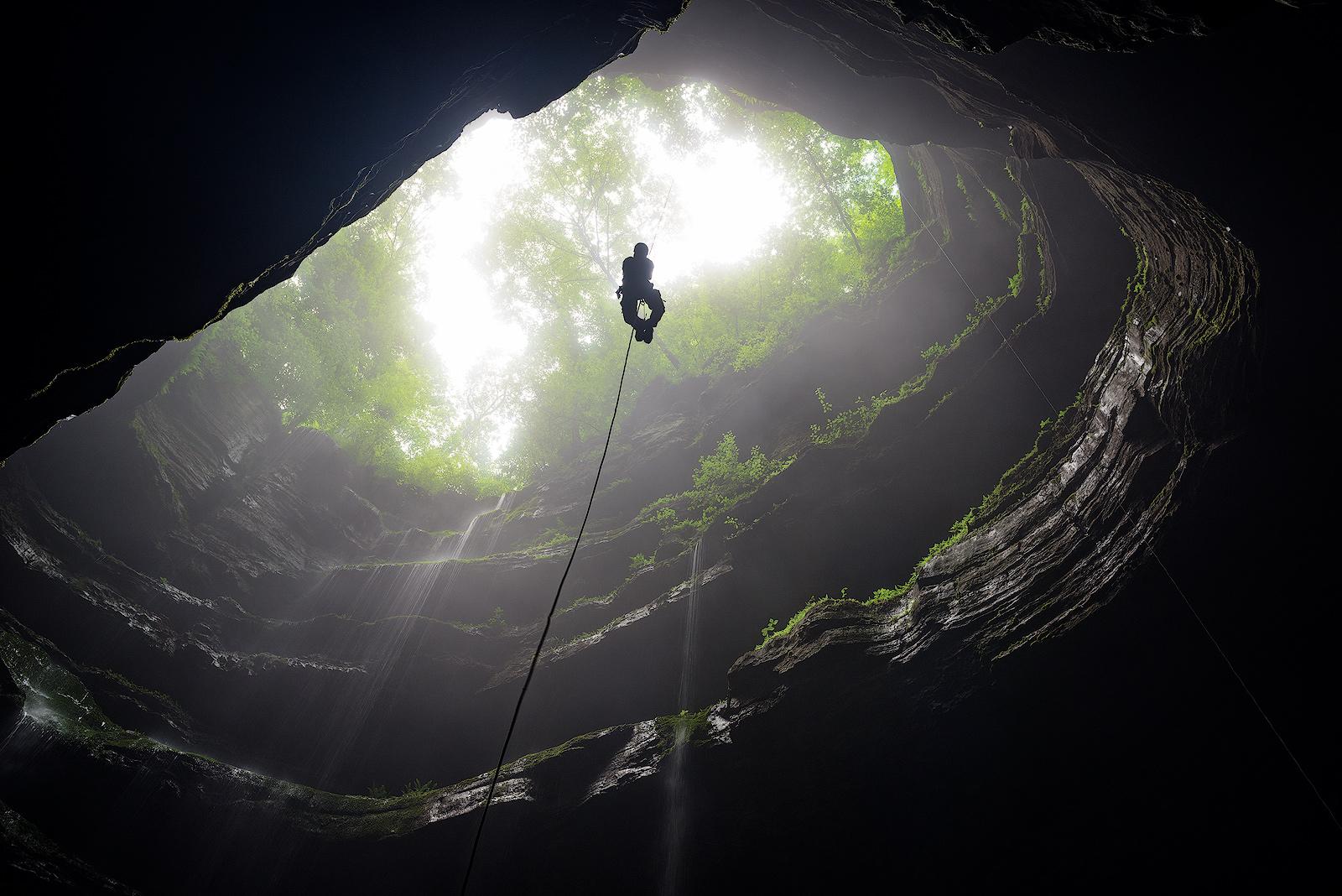 Neversink, Neversink Cave Preserve, Alabama, jackson county, waterfall, pit, fens, moss, southeastern cave conservancy, limestone, sports, extreme sports, climbing, sinkhole, photo