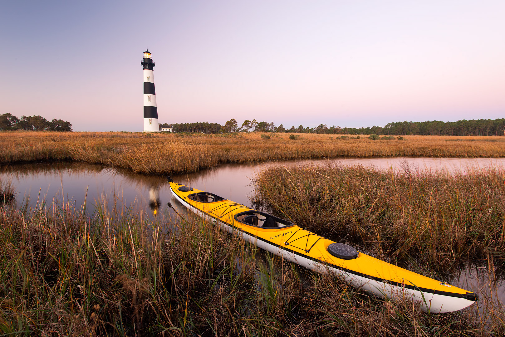 Bodie Island Lighthouse, North Carolina, sunset, OBX, Outer Banks, Hatteras Island, Cape Hatteras Seashores, scenic, marsh, serene, outdoor, landscape, atlantic, ocean, kayak, photo