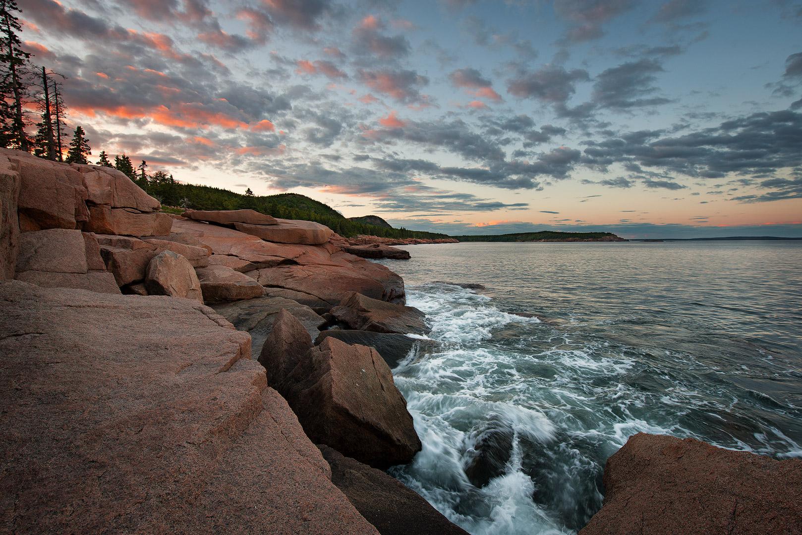 Atlantic, ocean, acadia, national, park, beach, island, bernard chen, timescapes, bass harbor, lighthouse, Mount Desert Island, sunset, dramatic skies, photo