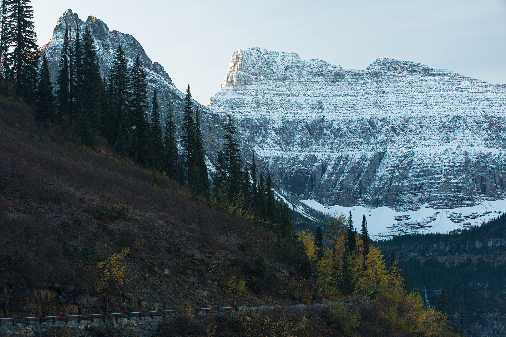 Glacier National Park, Montana, Bernard Chen, Horizontal, Outdoors, Day, Nature, Tranquility, Scenics, Tranquil Scene, Beauty In Nature, Non Urban Scene, Environment, Standing, Side View, Full Length,, photo