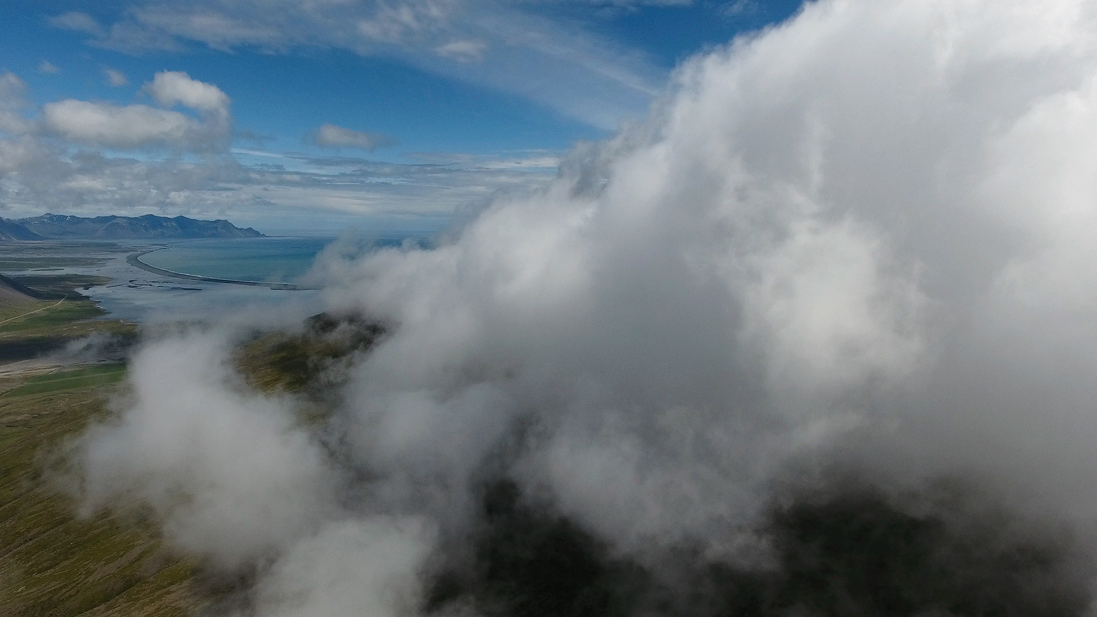 Iceland, ocean, aerial, drone, phantom 4, DJI, Bernard Chen, photo