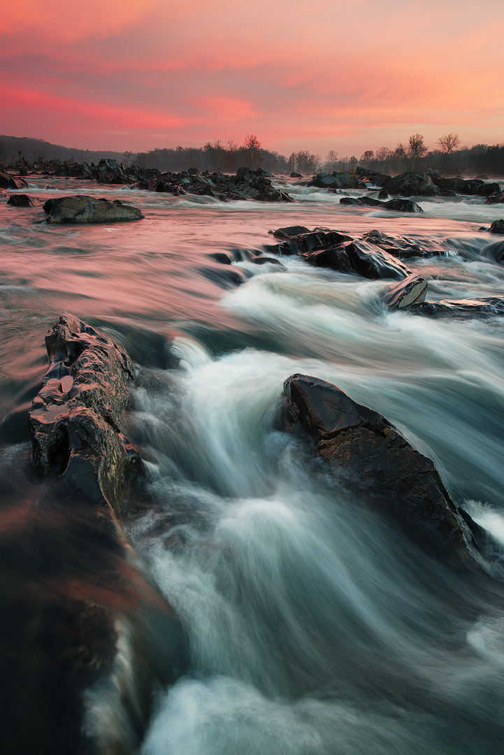 River, Canal, Great Falls Park, Potomac, Virginia, Maryland, Great Falls, River, National Park Service, Mather Gorge, water, waterfalls, panoramic, mist, morning, bernard chen, photo