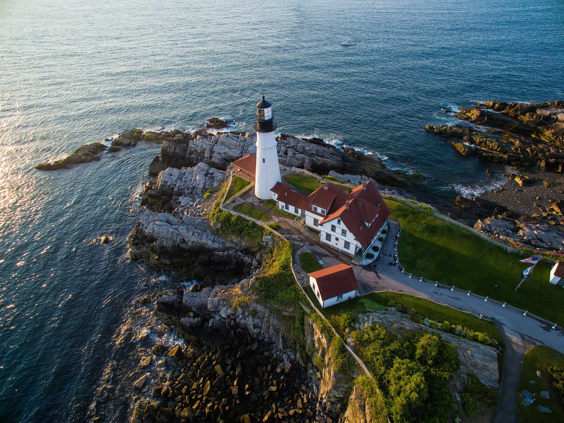 atlantic, ocean, coast, lighthouse, portland head, drone, aerial, photos, dji, phantom 3, sunrise, bernard chen, timescapes, photo