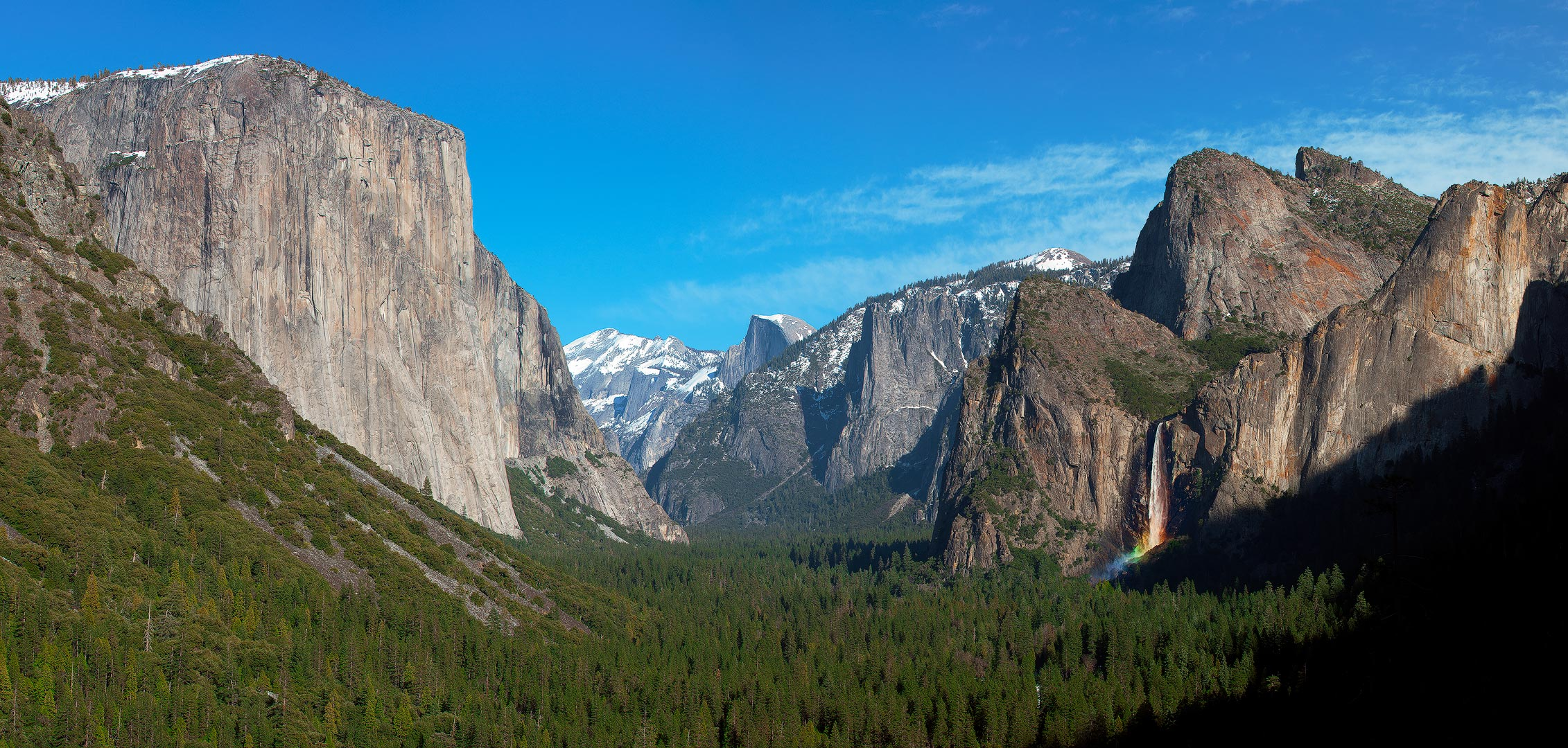 Yosemite, National Park, California, Winter, Landscape, Snow, Mountains, Waterfalls, Rivers, Vista, Iconic, Bridalveil Fall, El Capitan, Half Dome,  Tunnel View, Sequoias, Tuolumne, Mariposa, Glacier,, photo