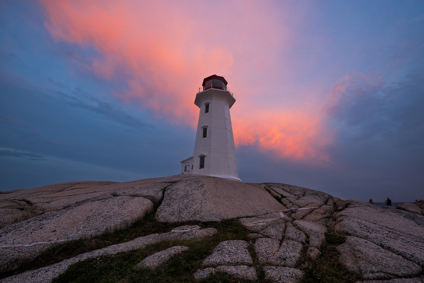 Peggy's Cove, Lighthouse, Nova Scotia, Canada, Atlantic, Ocean, Coast, Sunset, Dramatic Light, Bernard Chen, Timescapes, photo
