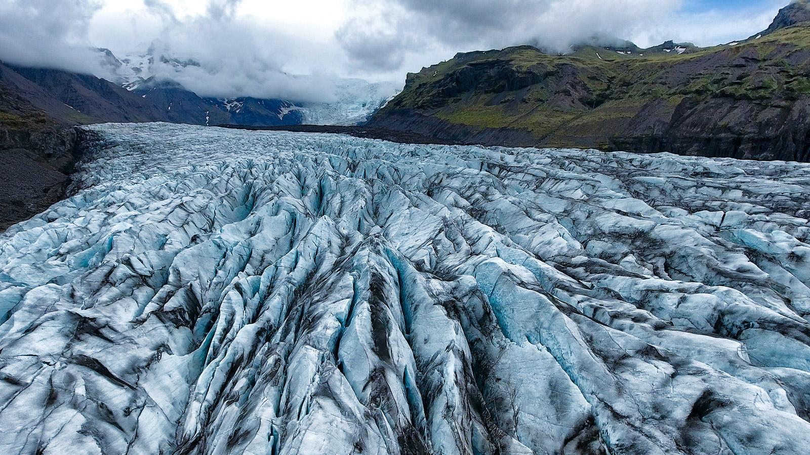 Skaftafell, Glacier, Skaftafell National Park, Aerial, Drone, Iceland, Bernard Chen, photo